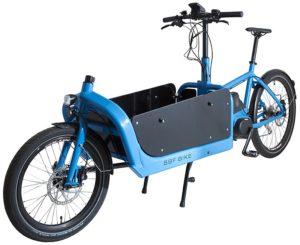 Lastenrad mit Transportbox, Transportrad in blau,
